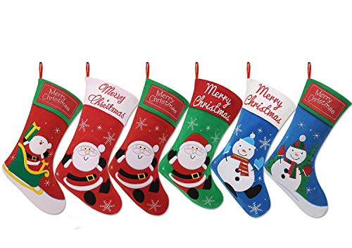 Cute Christmas Stockings - 3 Pack Cute Christmas StockingChristmas Tree Decoration Present Holder Bag With 3 Greeting Cards (3-Pack)