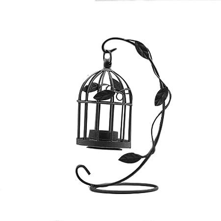 ZSL Portavelas de Estilo Vintage con Forma de Jaula de pájaro ...