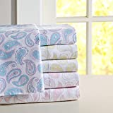 Mi-Zone Mi Zone Paisley Print Cotton Sheet Set-3 Color Options Pink 3 Piece Twin