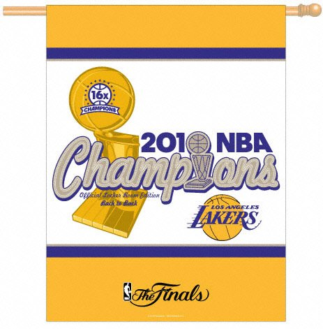 ce0a22b281c Image Unavailable. Image not available for. Color  Wincraft Los Angeles Lakers  2010 NBA Champions 27x37 Vertical Flag