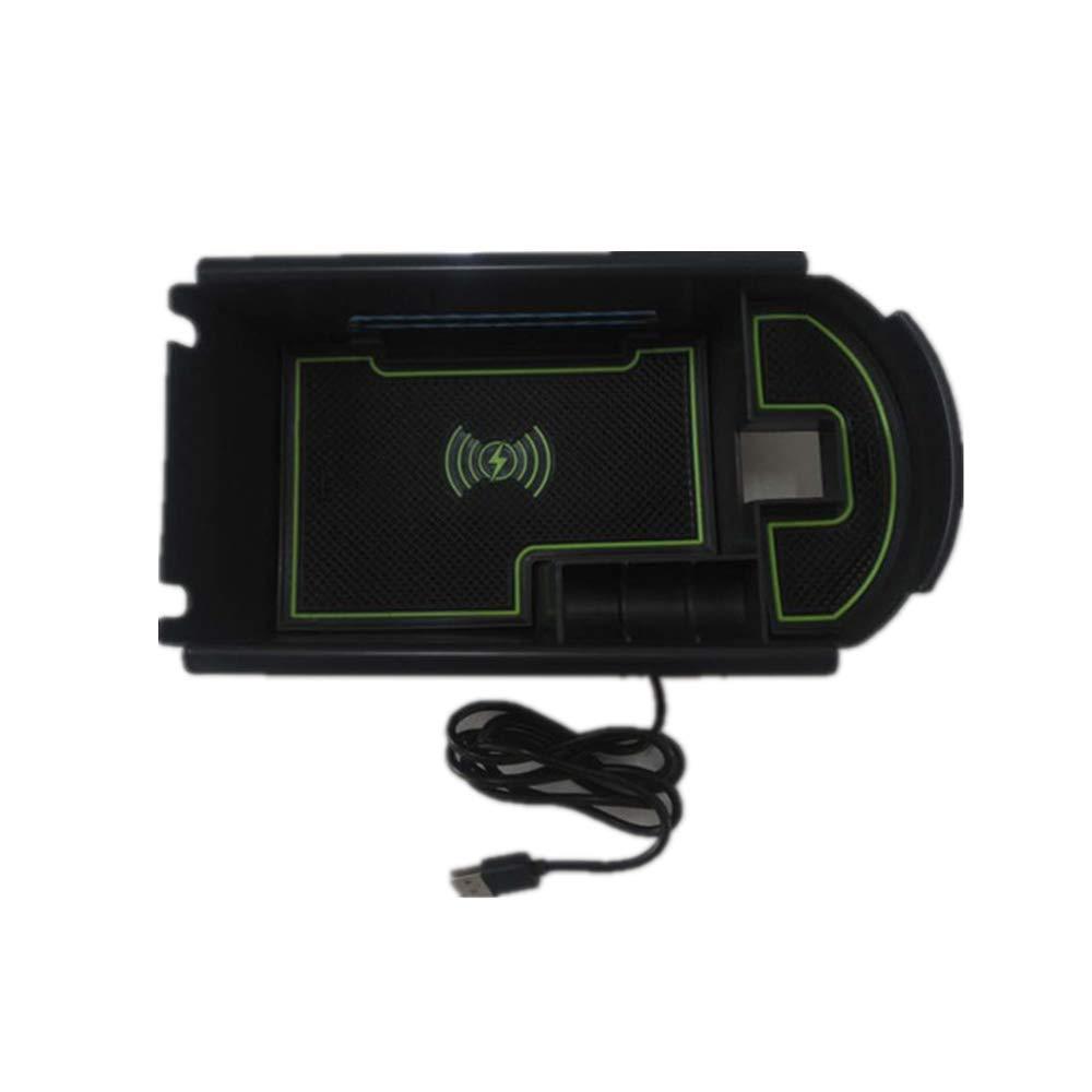 【For Toyota C-HR CHR 2016-2018】Tel/éfono m/óvil Cargador Inal/ámbrico para Autom/óvil Caja de Carga R/ápida de Consola Frontal de 10W Compatible con Galaxy S9//S9//S8//S8//S7 iPhone 8//8P//X//XS//XS Max//XR