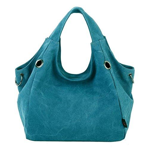 Totes Vintage Shoulder Handbag Casual Canvas Blue Canvas Bag Hobo ZiiPoR Z876qwF