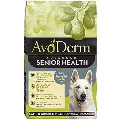 AvoDerm Natural Advanced Senior Health Dry Dog Food, Grain Free, Lamb Recipe