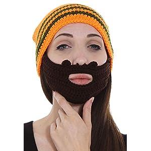 66658f98 Simplicity Women/Men's Crochet Ski/Snowboarding Beanie Hat w/Beard Wind  Guard