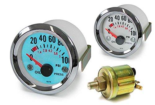 Indicatore pressione olio strumento aggiuntivo 52 mm Plasma Blu Carparts-Online GmbH