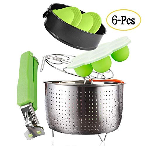 6 PACKS Accessories Big Steamer Basket Sets Ice Cube Mold Springform Pan Egg Steamer Rack Silicone Oven Mitts Dish Clip for Cooker Cooking Pot Cookware Steamer Pot Pan 6 8 qt