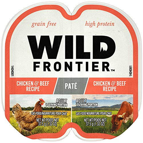Nutro Wild Frontier High Protein Grain Free Pate Wet Cat Food, Chicken & Beef, 2.65 Oz. (24 Twin Packs) (Getting Along With Your Mother In Law)