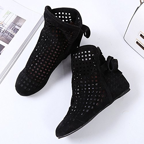 Cutout Boots Casual Black Womens For Booties Hidden ,Farjing Sale Ankle Wedges Low Booties Cute Clearance Shoes Women Boots Flat xwPYqU6f4