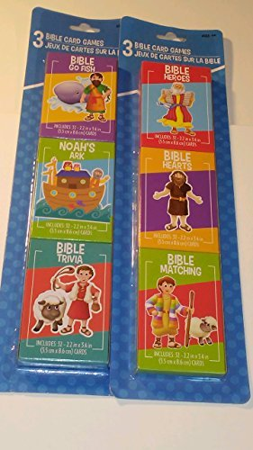 Ample Pack of Six Children''s Christian Bible Card Games