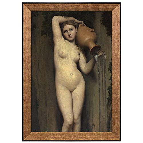 The Spring by Jean Auguste Dominique Ingres Framed Art