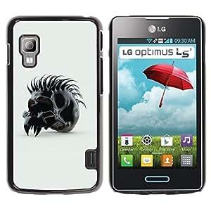 TECHCASE**Cubierta de la caja de protección la piel dura para el ** LG Optimus L5 II Dual E455 E460 ** Spiked Skull