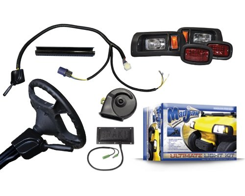 Madjax 02-008 Ultimate Street Legal Light Kit for 1994-Up Club Car DS Gas and Electric Golf Carts