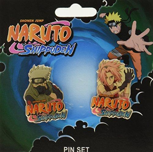Naruto Shippuden Kakshi & Sakura Pin Set Miniature Novelty Toys