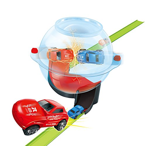 Toddler Race Track Set Round Ball with Tracks for Cars Racing and Fast Rolling