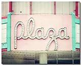 Plaza Theatre Photograph, Movie Room Decor, Pastel Art, Erie Pennsylvania Art, Pink Teal Aqua, Dancer Decor, Gift for Actor