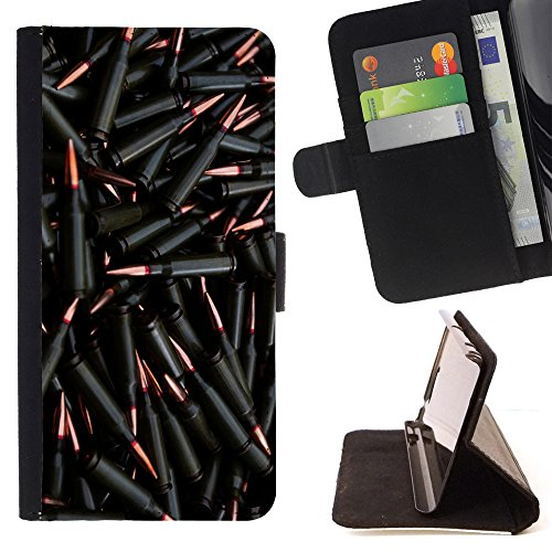 STPlus Black Bullets Machine Gun AK47 M-16 Wallet Card Holder Cover Case for Motorola Droid Turbo (M16 Bullet)