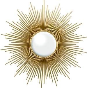 Amazon Com Global Views Sunburst Mirror Gold Home Amp Kitchen