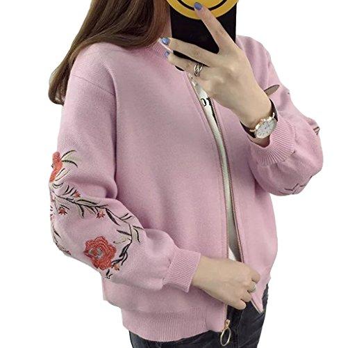 ファブリックプーノ忘れるZUOMA 秋冬の新番 レディース セーター ニット カーディガン パフスリリブ 刺繍 ジッパー 学生