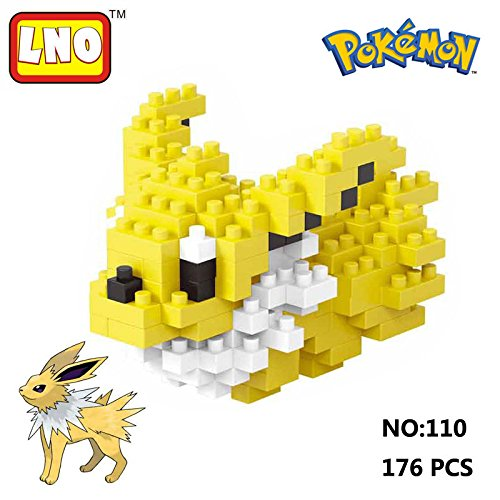 [LNO Anime Pokemon Jolteon Nano Block Diamond Mini Building Toys Pocket Monster] (Froakie Costume)