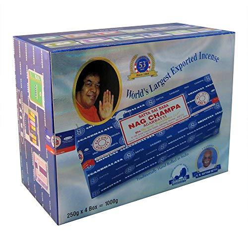 - Mega Value Bundle Sai Baba Nag Champa Incense (4-Pack (1,000g))