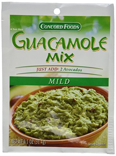 (Concord Foods: Mild Guacamole Dip Mix (Pack of 4) 1.1 oz)