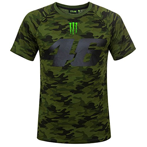 Valentino Rossi VR46 Moto GP Monster Camp Edition Camo T-shirt Official 2018