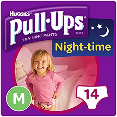 12 Huggies Pull-Ups Night Time Potty Training Pants for Girls Size 5 Medium 12-18kg