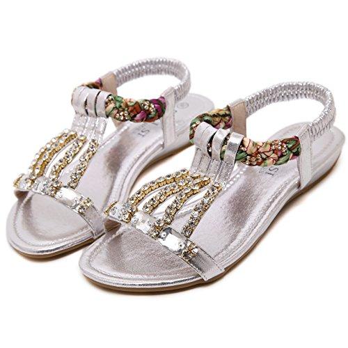 SUNAVY - Zapatos con tacón Mujer plata