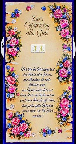 Karte Geburtstag Drehzahl Spruch Goldfolie Rosen Liefermenge 5