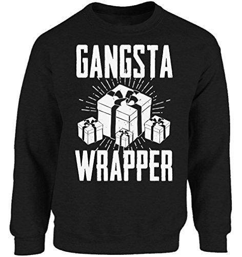 Ugly Christmas Sweater co Christmas Outfit Xmas Sweatshirt Feliz Navidad Xmas Gift Gangsta Wrapper -