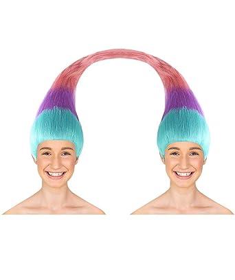 Amazon.com  Wig for Cosplay Adult Women Twin Trolls Style HW-1438  Clothing e3b339162f