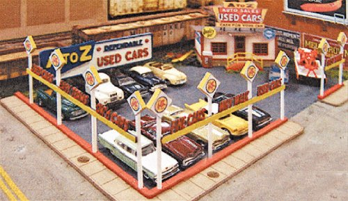 Blair 197 HO Kit Laser-Cut A-to-Z Used Cars (Laser Cut Line Ho Blair)
