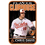 MLB Baltimore Orioles Chris Davis Styrene Sign, 11 x 17-Inch