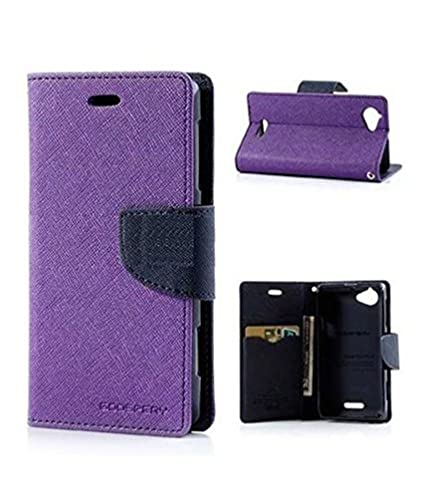 sports shoes bb5d4 abdeb Flip Cover For Lenovo Vibe P1M - Purple