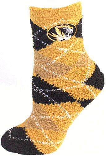 Official Nba White Tube Socks (Missouri Mizzou Tigers Argyle Fuzzy Lounge Socks)