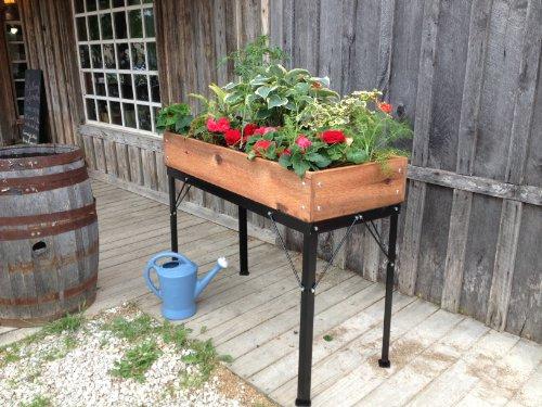 Cheap Elevated Cedar Square Box Garden 48″W x 20″D x 36″H w/8″ Soil Depth- Finished
