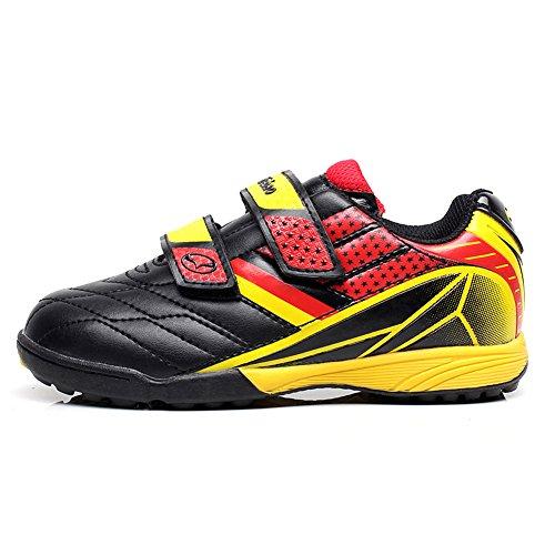 Deporte Fútbol Pequeño negro jóvenes Tiebao Zapatos De Niños Bucle Tamaño 13135 Profesional Zapatillas Eu30 Amarillo Clásico Niño Gancho Niños qxxBzYwA4