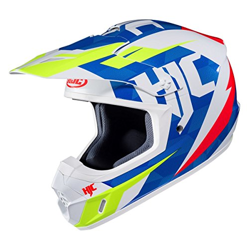 HJC CS-MX 2 Helmet - Dakota (LARGE) (WHITE/BLUE/HI-VIZ)