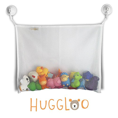 Spa Na Box Review (HUGGLOO Baby Bath Toy Organizer (18 x 14-Inch) with 2 Suction Cups,)