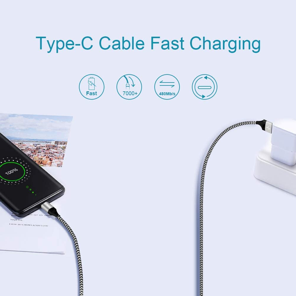 Ultra Tab S4 S5E Note 10 9 A40 A30 A70 A80,LG G8 V35 Thinq,Moto Z3 Z2 Play Phone Charging Cable,Fast Charge Wire USB Type-C Charger Cords 3FT 3FT 6FT for Samsung Galaxy A50 A20 S10E S10 Plus S20 S20