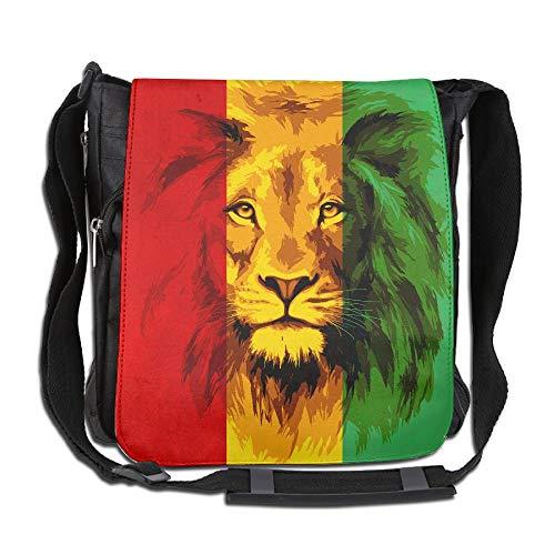 SARA NELL Messenger Bag,Reggae Rasta Flag Lion,Unisex Shoulder Backpack Cross-body Sling ()