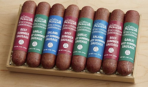 8-Piece Favorite Sausages Gift Box from Wisconsin Cheeseman
