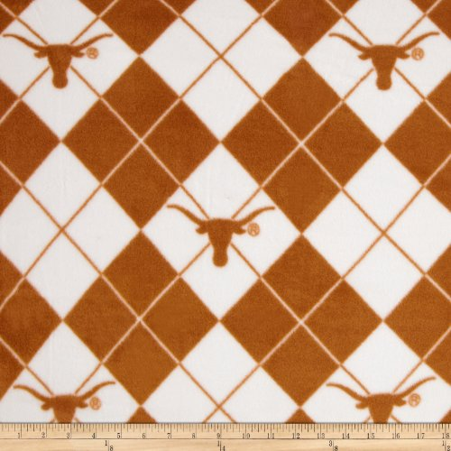 (Sykel Enterprises 0317734 Collegiate Fleece University of Texas Fabric by The Yard, Multi)