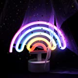 JJ POWER Neon Signs Night Light Nursery Lamp with Timer for Baby Child (Rainbow)