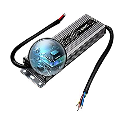 60 Watt Waterproof IP67 LED Power Supply Driver Transformer 110V AC 60Hz to 12V DC Low Voltage Output for Low Voltage Landscape Lighting Spotlight Outdoor