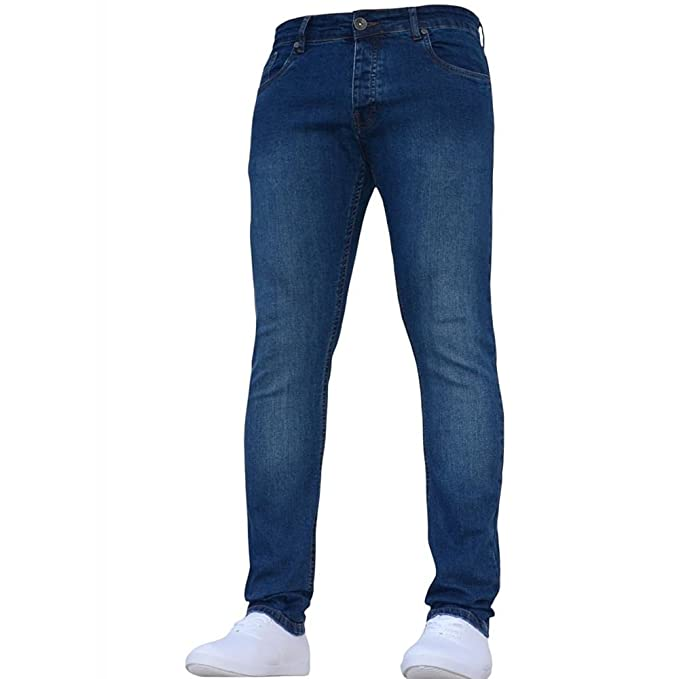 Enzo New Boys Kids Dark Designer Branded Skinny//Slim Fit Denim Chino Jeans