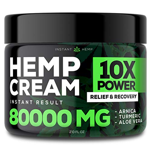 Buy Cheap Instant Hemp Pain Relief Cream - 80000 Mg - Relieve Muscle, Joint & Arthritis Pain - Natur...