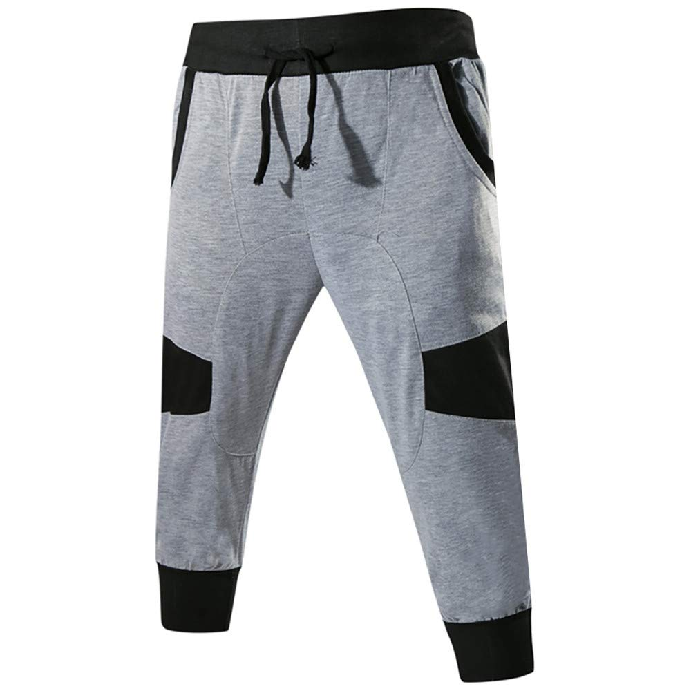 Cebbay Liquidación Pantalones de Hombre Pantalones Casuales Estilo Urbano Diario de otoño e Invierno Pantalones Cortos de Costura con cordón