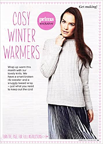 Prima Knitting Pattern Ladys Rib Sweater Sizes 81 107cm Disbound