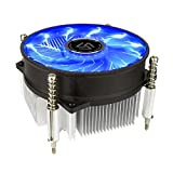 Premium Blue LED Intel Core i3 / i5 / i7 Socket 1156/1155 / 1151/1150 3-Pin Connector CPU Cooler With Aluminum Heatsink & 3.5-Inch Fan With Thermal Paste (TS32)